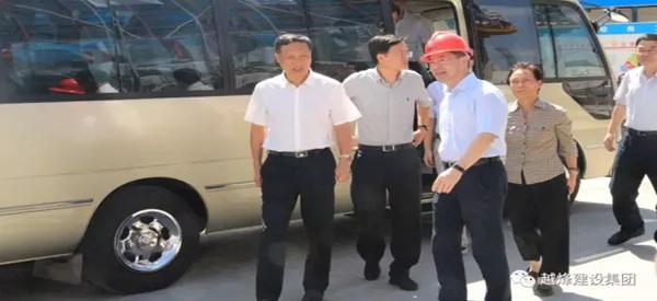 东晟府项目接待省人大常委会调研文明施工活动